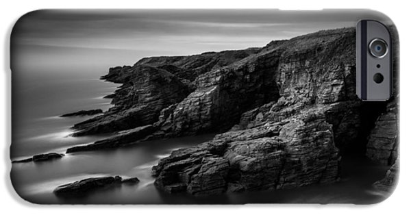 Dave iPhone Cases - Arbroath Cliffs iPhone Case by Dave Bowman