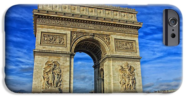 Clouds Reliefs iPhone Cases - The Arc de Triomphe iPhone Case by Lilien