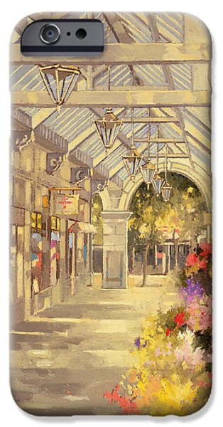 Sunlight On Pots Paintings iPhone Cases - Arcade iPhone Case by Peter Miller