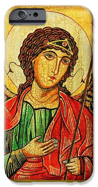 Book Of Daniel iPhone Cases - Archangel Michael  iPhone Case by Ryszard Sleczka