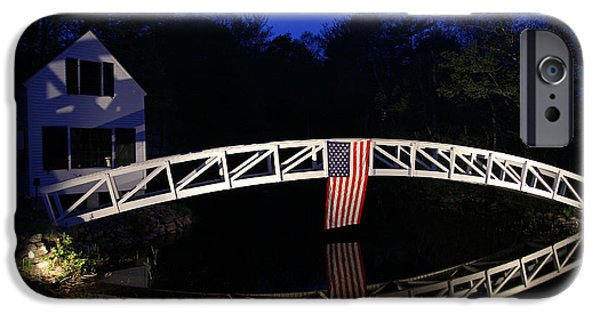 4th Of July iPhone Cases - Arched Bridge in Somesville Maine iPhone Case by Juergen Roth