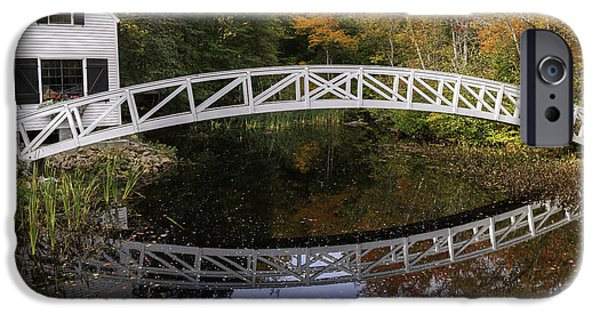 Nature Scene iPhone Cases - Arched Bridge-Somesville Maine iPhone Case by Thomas Schoeller