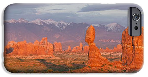 United iPhone Cases - Arches National Park Sunset iPhone Case by Aaron Spong