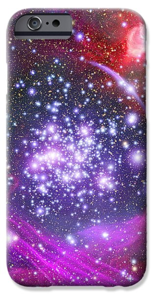 Stellar iPhone Cases - Arches Supermassive Star Cluster, Art iPhone Case by NASA / ESA / Space Telescope Science Institute
