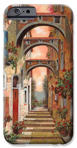 Roof iPhone Cases - Archetti In Rosso iPhone Case by Guido Borelli