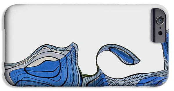 Blue Abstracts iPhone Cases - ArchiTec - 04a iPhone Case by Variance Collections