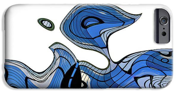 Blue Abstracts iPhone Cases - ArchiTec - 08a iPhone Case by Variance Collections