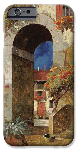 Roof iPhone Cases - Arco Al Buio iPhone Case by Guido Borelli