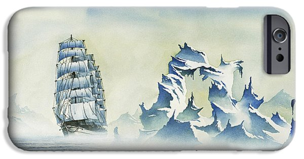 Tall Ship iPhone Cases - Arctic Seas iPhone Case by James Williamson
