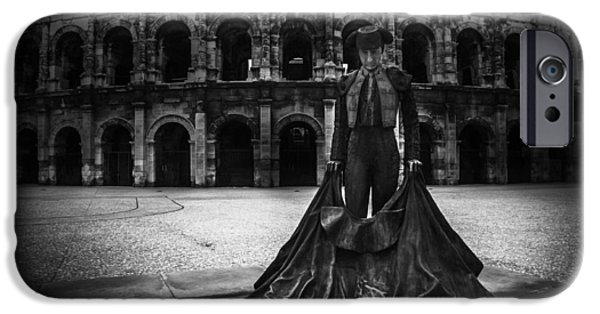 Languedoc iPhone Cases - Arena of Nimes v.1 iPhone Case by Erik Brede