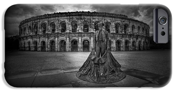 Ruin iPhone Cases - Arena of Nimes v.2 iPhone Case by Erik Brede