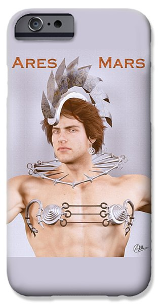 Zeus iPhone Cases - Ares god of war By Quim Abella iPhone Case by Joaquin Abella