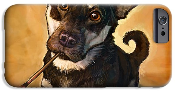 Dog iPhone Cases - Arfist iPhone Case by Sean ODaniels