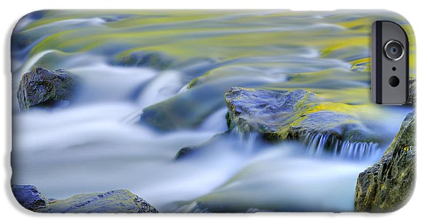 Green iPhone Cases - Argen River iPhone Case by Silke Magino