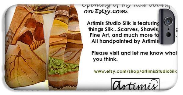 Universities Tapestries - Textiles iPhone Cases - Arizona Memories iPhone Case by Artimis Alcyone