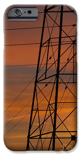 Electrical iPhone Cases - Arizona Sunset iPhone Case by Anne Rodkin