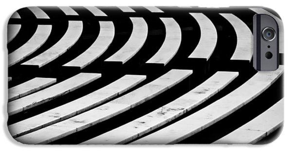 D.c. iPhone Cases - Arlington Cemetery Amphitheater Benches #3 iPhone Case by Stuart Litoff