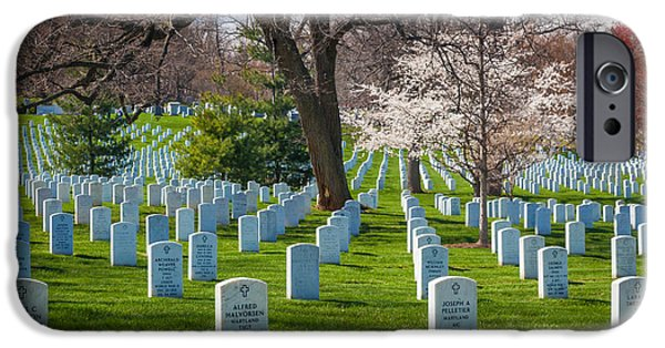 United iPhone Cases - Arlington National Cemetery iPhone Case by Inge Johnsson