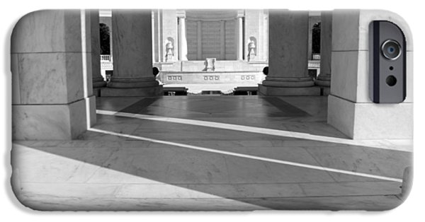 D.c. iPhone Cases - Arlingtons Amphitheater Stage Seen Through Columns And Shadows -- 2 iPhone Case by Cora Wandel