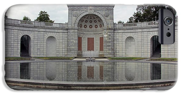 D.c. iPhone Cases - Arlingtons Women In Military Service For America Memorial iPhone Case by Cora Wandel