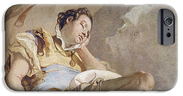 Epic iPhone Cases - Armida Adbucting the Sleeping Rinaldo iPhone Case by Giovanni Battista Tiepolo
