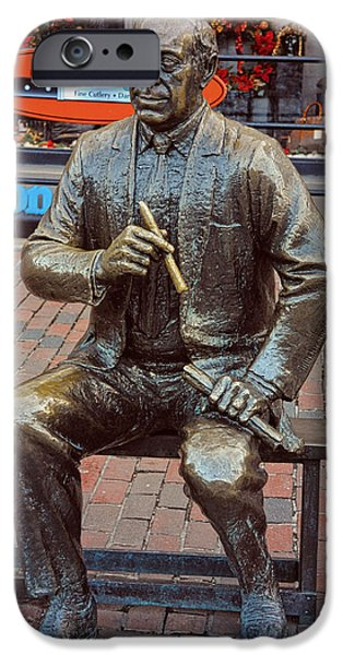 Boston Ma iPhone Cases - Arnold Red Auerbach iPhone Case by Mike Martin