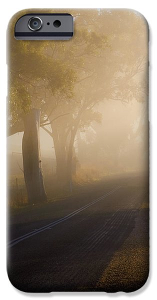 Fog Mist iPhone Cases - Around the Bend iPhone Case by Mike  Dawson