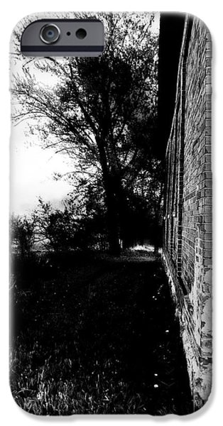 Ruin iPhone Cases - Around The Corner - Black and White iPhone Case by Jamie Holbrook