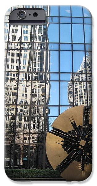 Disc iPhone Cases - Around The Reflections Of Progress iPhone Case by Melissa McCrann