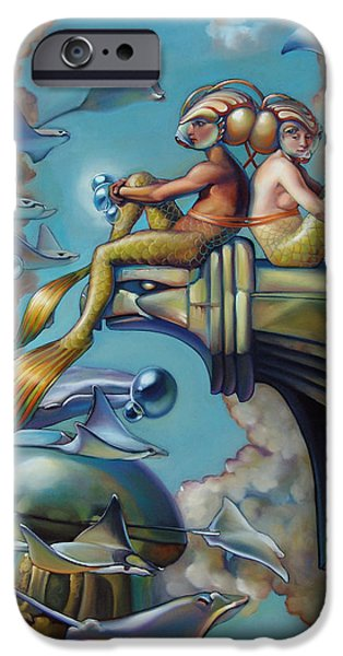 Rays Paintings iPhone Cases - Array of Hope and Change iPhone Case by Patrick Anthony Pierson