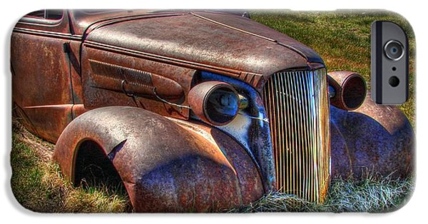 Rusted Cars iPhone Cases - Arrested Decay iPhone Case by Scott McGuire