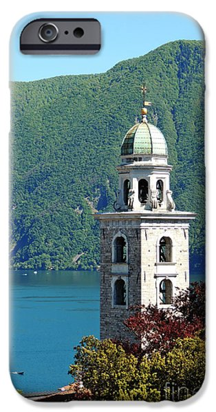 Town iPhone Cases - Arriving In Lugano iPhone Case by Alexandra Lavizzari