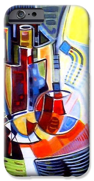 Wine Bottles iPhone Cases - Art De Vivre iPhone Case by Therese AbouNader