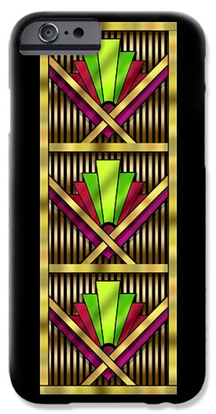 Design iPhone Cases - Art Deco 13 Tiles iPhone Case by Chuck Staley