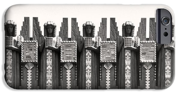 Angel Reliefs iPhone Cases - Art Deco Angels Budapest iPhone Case by James Dougherty