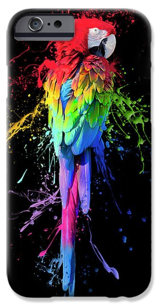 Digital Art Abstracts iPhone Cases - Art Interrupted iPhone Case by Janet Fikar