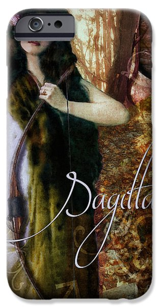 Signs Of The Zodiac Paintings iPhone Cases - Art Nouveau Zodiac Sagittarius iPhone Case by Mindy Sommers