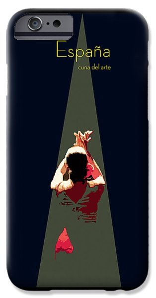Ballet Dancers Drawings iPhone Cases - Arte Andaluz iPhone Case by Joaquin Abella