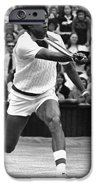 Wimbledon Photographs iPhone Cases - Arthur Ashe (1943-1993) iPhone Case by Granger