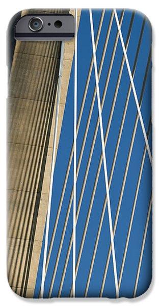 Arthur iPhone Cases - Arthur Ravenel Jr. Bridge Cable Stay Shadows iPhone Case by Dustin K Ryan