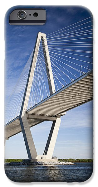 Arthur iPhone Cases - Arthur Ravenel Jr. Bridge in Charleston South Carolina iPhone Case by Dustin K Ryan