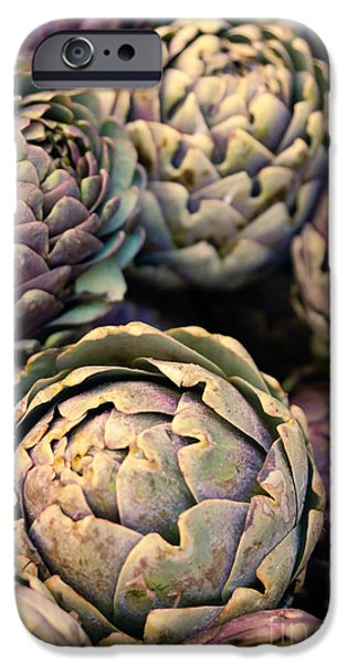 Organic Foods iPhone Cases - Artichokes iPhone Case by Ana V  Ramirez