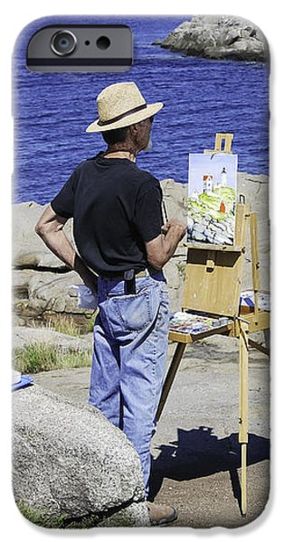 Painter Photographs iPhone Cases - Artist at Work iPhone Case by Phyllis Taylor