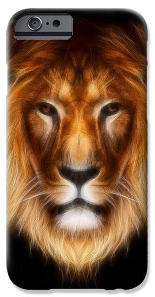 Artistic Lion iPhone Case by Aimelle