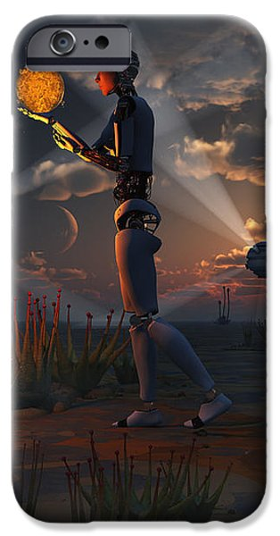Artists Concept Of A Quest To Find New iPhone Case by Mark Stevenson