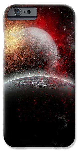Artists Concept Of Cosmic Contrast iPhone Case by Mark Stevenson