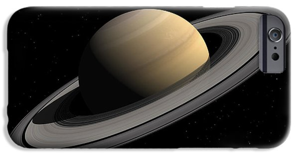 Disc iPhone Cases - Artists Concept Of Saturn iPhone Case by Walter Myers