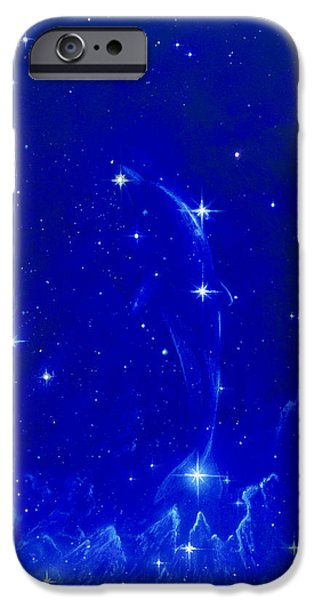 Constellations iPhone Cases - Artwork Of The Constellation Delphinus iPhone Case by Chris Butler