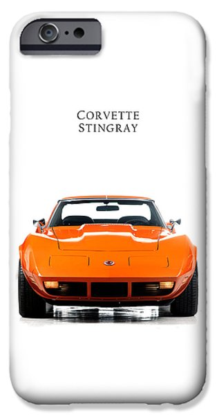 Sting Ray iPhone Cases - Chevrolet Corvette Sting Ray iPhone Case by Mark Rogan