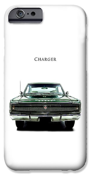 426 iPhone Cases - Dodge Charger 426 Hemi iPhone Case by Mark Rogan